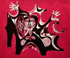 Dimension (1972) - Bertina Lopes (1924-2012) (pedrosimoes7) Tags: bertinalopes caloustegulbenkianmuseum moderncollection lisbon portugal mozambique moçambique mozambicanpainter pintoramoçambicana artgalleryandmuseums arttate ✩ecoledesbeauxarts✩