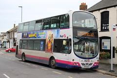 32629 (KP54KAX) 08-10-2019 rte 62 B'sea (routemaster2217) Tags: brightlingsea lowfloorbus transport doubledecker bus firstessex firsteastengland volvob9tl wrighteclipsegemini wrightbus 32629 kp54kax