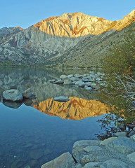 Mt Morrison Sunrise, Convict Lake, Sierra Nevada 10-19 (inkknife_2000 (11 million views)) Tags: easternsierranevada yosemitenationalpark california usa landscapes dgrahamphoto convictlake mountainlake reflectiononwater sunrise sunrisereflections stillwater rocks mountains peaks morrisonpeak morningcalm serenity