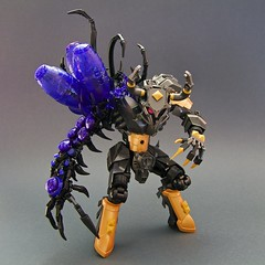 The Husk of Minaurogg (Djokson) Tags: monster demon parasite disease demonic mutant armor knight warrior minotaur purple gold metal lego moc djokson model toy