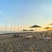 Sonnenuntergang am Strand Sarigerme, Türkei