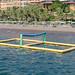 Wibit Water Volleyball net in the Aegean Sea of Sarigerme, Turkey