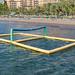 Wibit Volleyballnetz im Ägäischen Meer von Sarigerme, Türkei