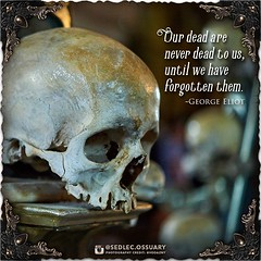"""""""Our dead are never dead to us, until we have forgotten them."""" -George Eliot . 💀Turn on post notifications, click link in BIO to follow along on our journey, and sign up on our mailing list at: ☩ sedlecossuary.mechanicalwhispers.com ☩ . 🌟 Lots (Sedlec Ossuary Project) Tags: sedlecossuaryproject sedlec ossuary project sedlecossuary kostnice kutnahora kutna hora prague czechrepublic czech republic czechia churchofbones church bones skeleton skulls humanbones human mementomori memento mori creepy travel macabre death dark historical architecture historicpreservation historic preservation landmark explore unusual mechanicalwhispers mechanical whispers instagram ifttt"""