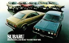 1978 Subaru Full Line (aldenjewell) Tags: 1978 subaru gf hardtop dl coupe station wagon 2door 4door sedan 4 wheel drive brochure