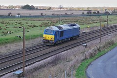 Bluebird (JohnGreyTurner) Tags: br rail uk railway train transport colton york yorkshire diesel engine locomotive db dbs dbc ews 67 class67 skip