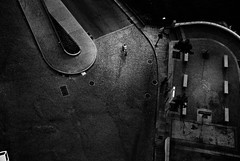 Who killed Dr. Le Noir ? (Aurélien B.) Tags: portugal porto blackandwhite bicycle killed man people from above street