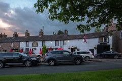 The Boot and Shoe Busy (Jocey K) Tags: tripukeroupe2019 june uk england sky clouds trees sunset car flag pub bootandshoepub evening rainbow greystoke lakedistrict
