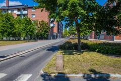 Средства успокоения трафика - сужение дороги
