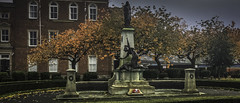 Photo of Macclesfield, Cheshire, England Memorial taken one week before Armistice Sunday