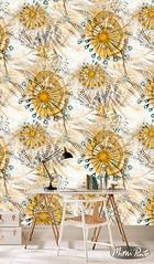 Mimipinto wallpaper at spoonflower (MimiPintoArt) Tags: wallpaper fabrics sewing home decorating decor watercolor botanical abstract interiors wallart mimipinto spoonflower