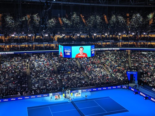 Novak Djokovic - Roger Federer v Novak Djokovic at 2019 ATP Finals