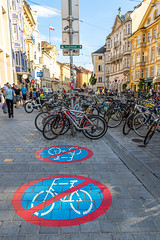 """No cycling (mandyhedley) Tags: bicycle cycling innsbruck austria oldtown mountains architecture sport healthy keepfit """"flickrtravelaward"""""""