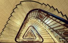 Hamburg Stairs (petra.foto busy busy busy) Tags: kontorhaus hamburg mönkeberghof germany treppenhaus stairs treppe treppenauge vonoben gebäude architektur bürogebäude treppengeländer fotopetra canon eosrp