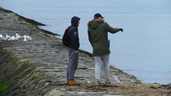 It's Over There (byronv2) Tags: street candid peoplewatching edinburgh edimbourg scotland coast coastal firthofforth rnbfirthofforth rnbforth forth river riverforth northsea sea water cramond causeway