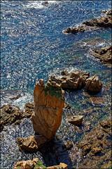 View From Marimurtra   Blanes, Catalonia (Flemming J. Gade) Tags: rocks sea mediterranean water sun blanes catalonia costabrava