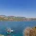 Blick aus der Insel Baba Adasi auf Sarigerme, Türkei