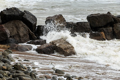 Steephill Cove (Crisp-13) Tags: steephillcove isleofwight steephill cove isle wight rocks sea waves coast stormy storm