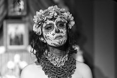Dia de los muertos #3 (drugodragodiego) Tags: castenedolo provinciadibrescia lombardia italy mexico art folklore cultura portrait ritratto woman blackandwhite blackwhite bw biancoenero pentax pentaxk1 k1 pentax100mmmacro