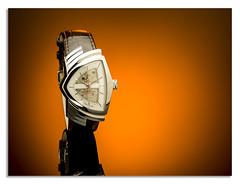 Men in black Hamlton (johnhjic) Tags: johnhjic watch automatic face leather hamilton studio flash hass x1d xcd 120mm gold orange yellow black red reflection time