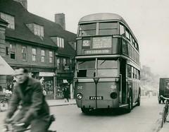 London transport AEC Q2 on route 52 in 1935. (Ledlon89) Tags: aec bus buses transport lptb londontransport lt lte londonbus londonbuses vintagebuses oldlondon qtype lttype bluebirdlt