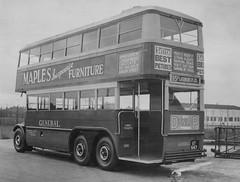 "General ""Bluebird"" LT741 at Chiswick works 1931. (Ledlon89) Tags: aec bus buses transport lptb londontransport lt lte londonbus londonbuses vintagebuses oldlondon qtype lttype bluebirdlt"