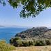 Baba Adasi Insel mit Blick auf Sarigerme, Türkei