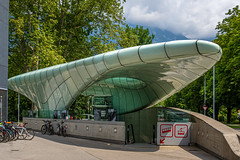 Cable car station (mandyhedley) Tags: station modern austria tirol sleek futuristic innsbruck cablecarstation bikes cablecar bikers canon7dii canonphotography startrek alien spaceship