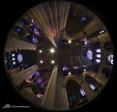 Inside the Washington National Cathedral (Matt Straite Photography) Tags: chrush cathedral wahington dc capitol usa america color stained glass fih fisheye perspective tripod canon sigma