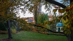 Pavillon im Barth-Park in Lauf an der Pegnitz | IMGP8626-2 (horschte68) Tags: laufanderpegnitz barthpark herbst autumn dämmerung dusk aftersunset nachsonnenuntergang pentaxkp smcda1645mm40edal goldenestunde goldenhour composition