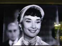 3 a.m. - 65 inchs of Audrey Hepburn (the foreign photographer - ฝรั่งถ่) Tags: audrey hepburn roman holiday movie tv television house bangkhen bangkok thailand canon
