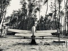 Plane in the forest (Tom Hazen) Tags: netherlands forest trekking trek germany day rainy riel messerschmidt letnotforget plane airport remember wwii tilburg kiek goirle ngc