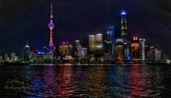 70th Anniversary of Party, Shanghai (Lao Nong) Tags: tags national china chinese outdoors flickr colors nikkor colours colour art photography photograph buildings skyscaper reflections reflection lights mood
