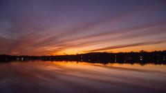 Lake Parsippany Sunset_2832 (smack53) Tags: smack53 sunset evening eveningsky paintedsky sky clouds water lake reflections autumn autumnseason fall fallseason nikon coolpix p7000 nikonp7000 nikoncoolpixp7000 newjersey parsippany lakeparsippany