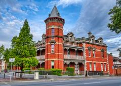 Wellington Street (John Hewitt 7) Tags: luminosity7 launceston tasmania nikon d850 victorian gothic architecture sky clouds