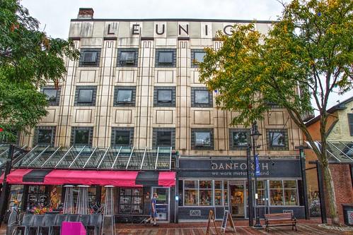 Burlington Vermont - Leunig's Bistro - Historical Building - Architecture -  Art deco style porcelain enameled steel façade