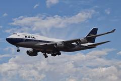 British Airways BOAC Retro Livery 747-436 (G-BYGC) LAX Approach 2 (hsckcwong) Tags: britishairways 747436 747400 7474 gbygc boacretrolivery lax klax