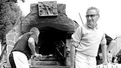 Country bakers (patrick_milan) Tags: portrait man glass country baker bread pain boulanger homme