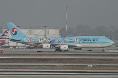 Korean Air 11th Korean Air Future Artist Olympiad Livery 747-8B5 (HL7630) - LAX Taxiway C  (1) (hsckcwong) Tags: koreanair 7478b5 747800 7478 747 11thkoreanairfutureartistolympiadlivery hl7630 lax klax