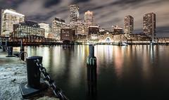 (Eric Wehmeyer) Tags: boston water night city longexposure panorama