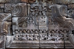 Carvings on the Nokorbachey Temple in Kampong Cham (yhila) Tags: archaeology kampongcham cambodia