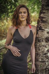 Babe on Birch (Luv Duck - Thanks for 16M Views!) Tags: select sarahmarie beautifulgirl beautifulbody alaskangirls blackdress naturalbeauty brunette fallinalaska photoshoot