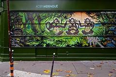 Les trois singes de la sagesse (Edgard.V) Tags: paris parigi street art urban urbano arte callejero miural graffiti singes monkeyx macacos scimmie wisdom sapienza sabedoria