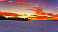 'Cool' Sunset (Bob's Digital Eye 2) Tags: bobsdigitaleye2 canon centralminnesota clouds efs1855mmf3556isii flicker flickr frozenlake ice laquintaessenza lake lakesunsets lakescape landscape nov2019 skies sky skyscape sunset sunsetsoverwater