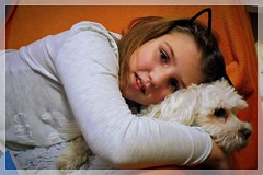 is this love?... ;) (green_lover (your COMMENTS are welcome!)) Tags: martynka daughter girl people family fela dog maltese pets animals smileonsaturday peopleandpets child children