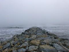 Iph8161 (gzammarchi) Tags: italia paesaggio natura mare ravenna lidodidante alba onda scoglio pietra