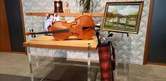 Hugh's Art (12k views) (Bill 3 Million views) Tags: clansmen sutherland memorial mccalls falaisedrive chello music violin painting luthier