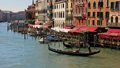 Gondola on the Grand Canal (v seger) Tags: gondola boat gondolier grand canal venice italy cityscape