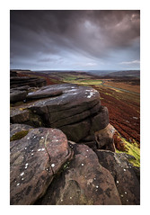 Stanage Edge - The Peak District / November 8th (Edd Allen) Tags: sunset sun light nikon countryside country atmosphere atmospheric zeissdistagon18mm zeiss 18mm landscape uk england greatbritain britain hills ethereal serene bucolic tor nikond810 d810 wideangle stanageedge thepeakdistrict