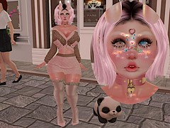 Cafe Break~ (CandyCottonDreams) Tags: sl secondlife blog fashionsl panda cafe babydoll belleza catwa daria mishmish animesh revoul lotd fantasy cute kawaii doux mug cakeinc momochuu pz horns kibiitz candydoll father s0ng besha